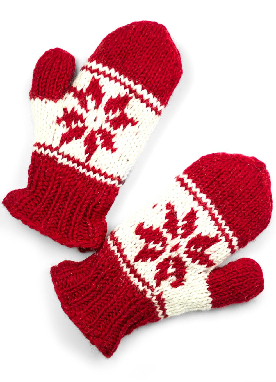 Wool Snowflake Mittens
