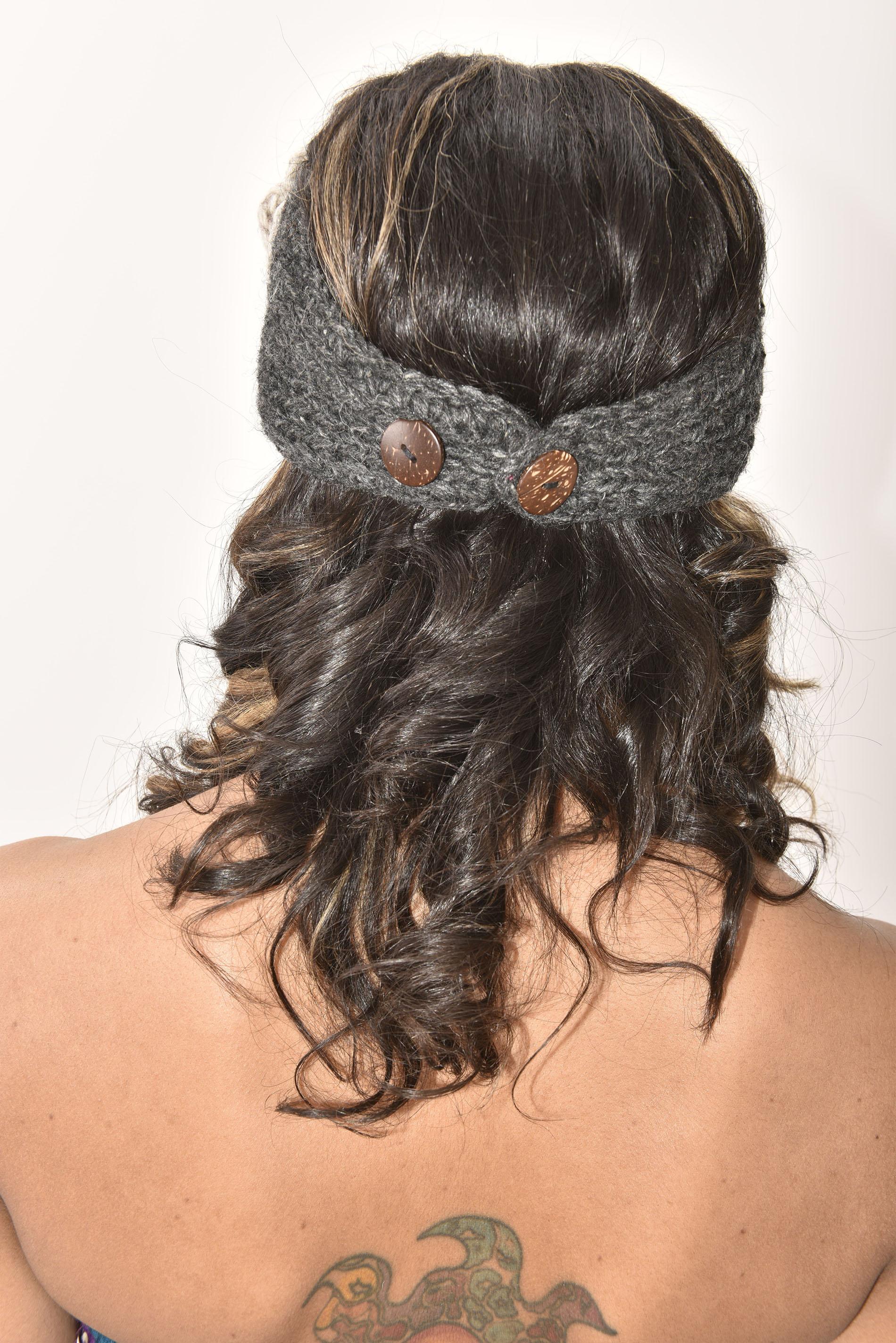 Charcoal & Natural Headband