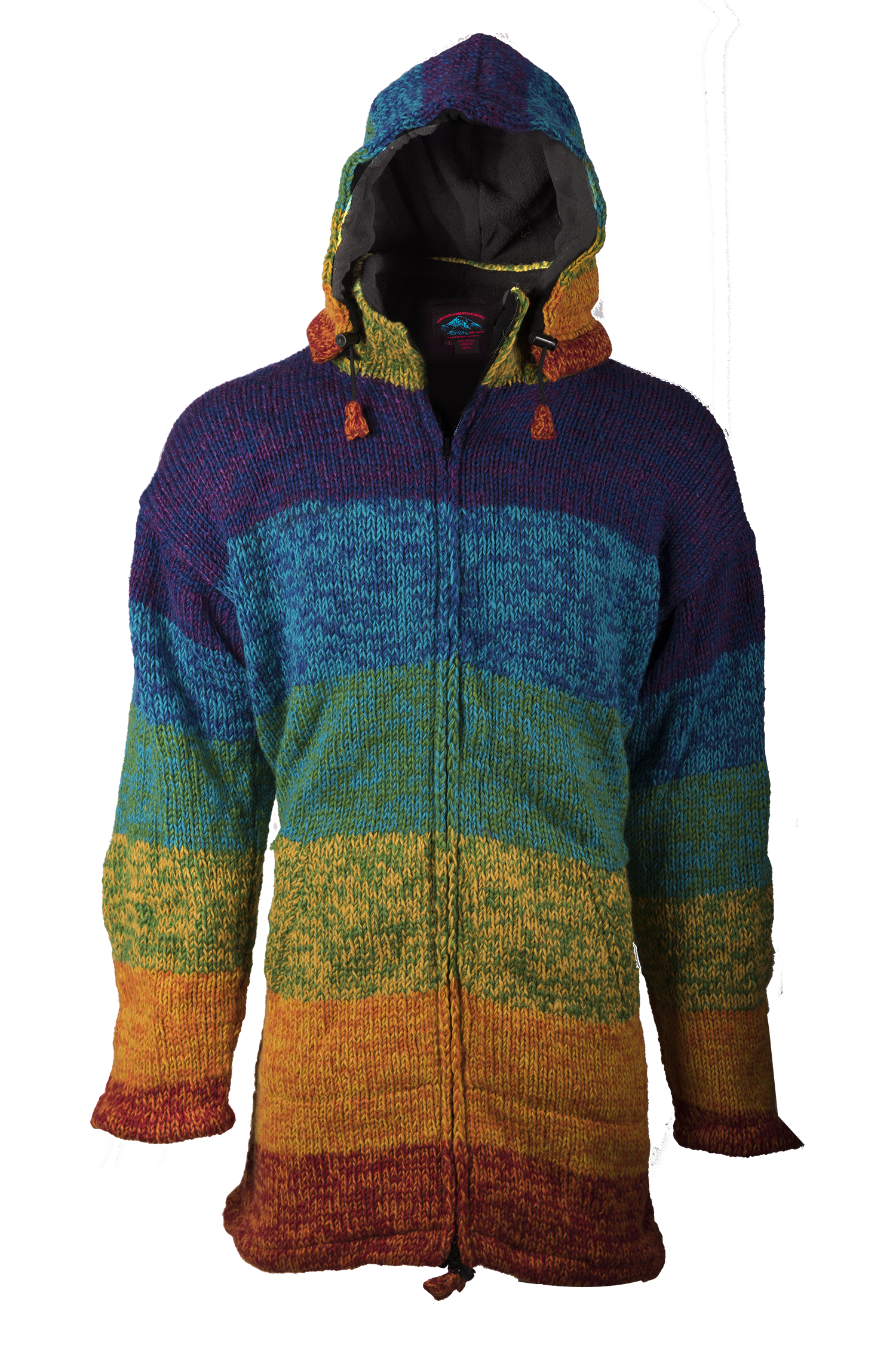 Himalayan Mountain Jacket Long Length, Rainbow