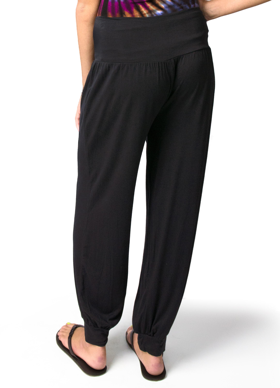Harem Pants, Solid Color, Black  - 2365-K