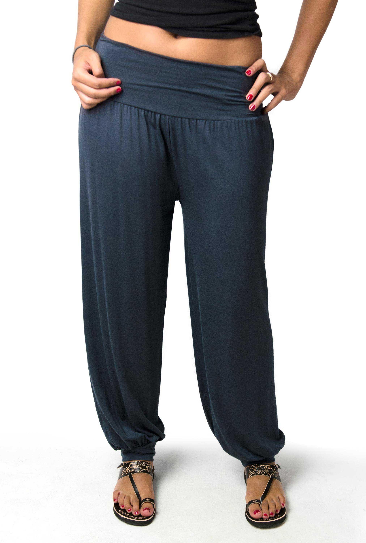 Harem Pants, Solid Color, Grey - 2365-Y