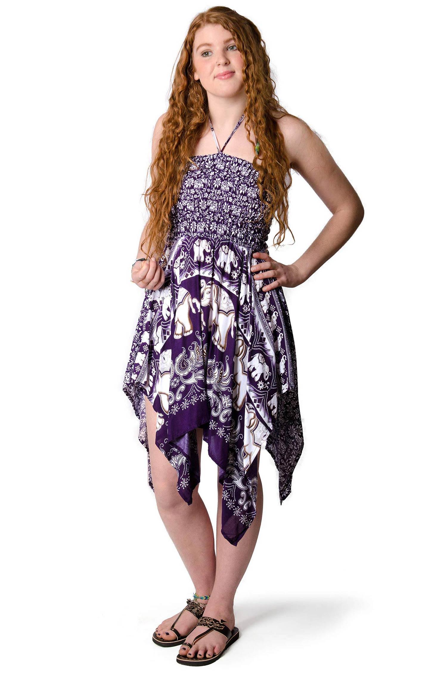 507363474b0 Elephant Print Convertible Fairy Dress - Skirt - Purple