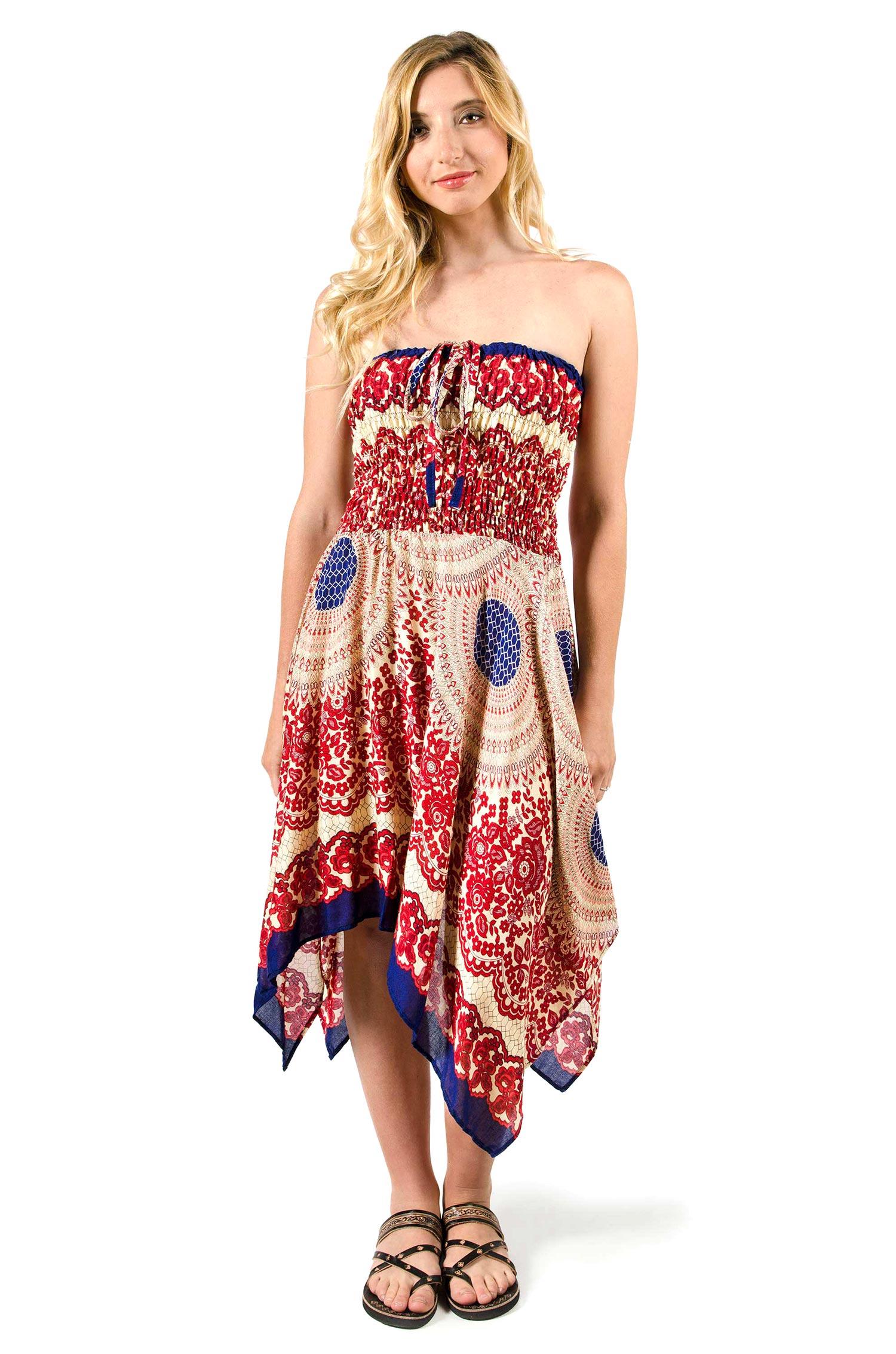 f4338e9dcf1 Convertible Print Fairy Dress   Skirt - Red - 3135R
