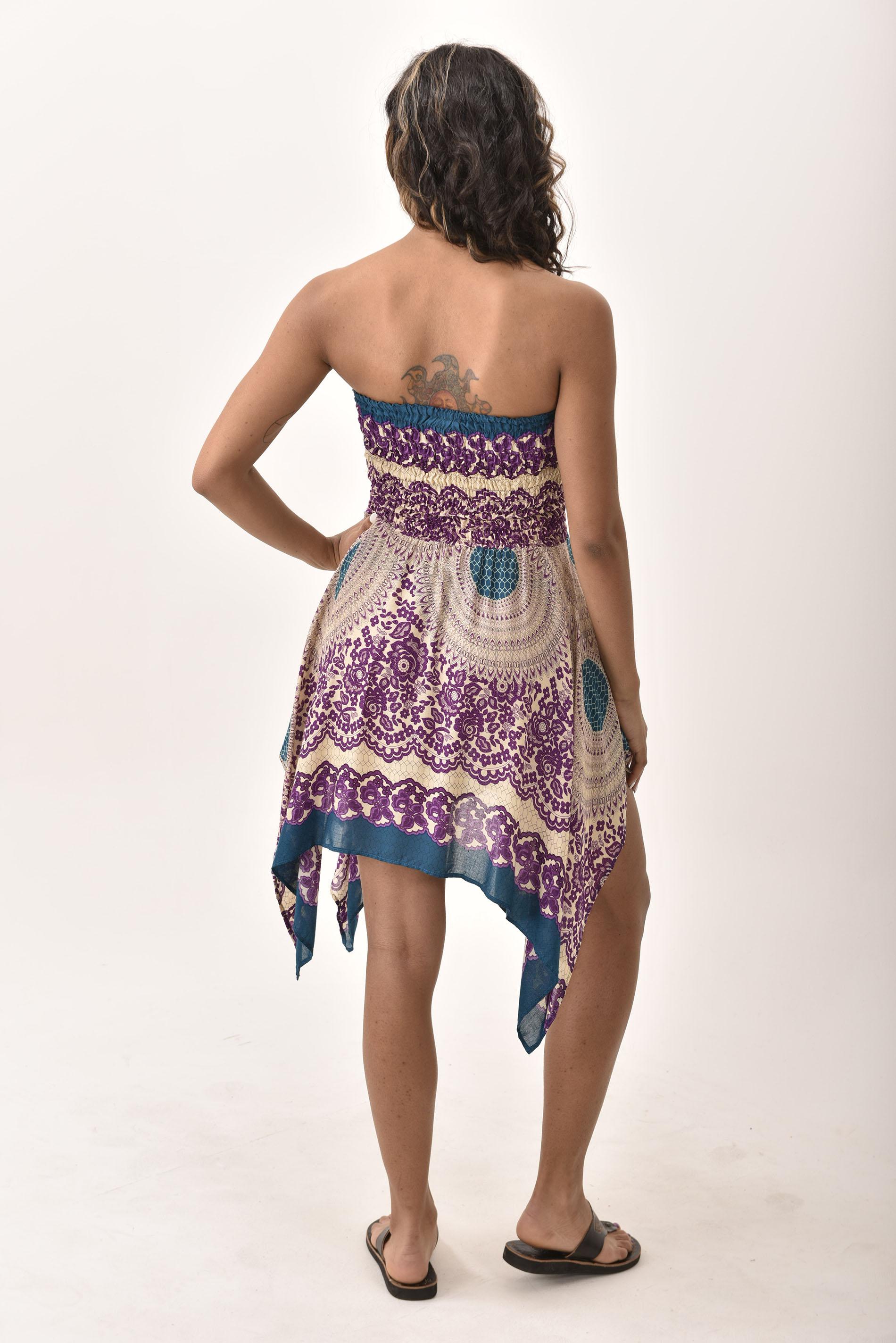 Convertible Print Fairy Dress - Skirt - Purple - 3135U