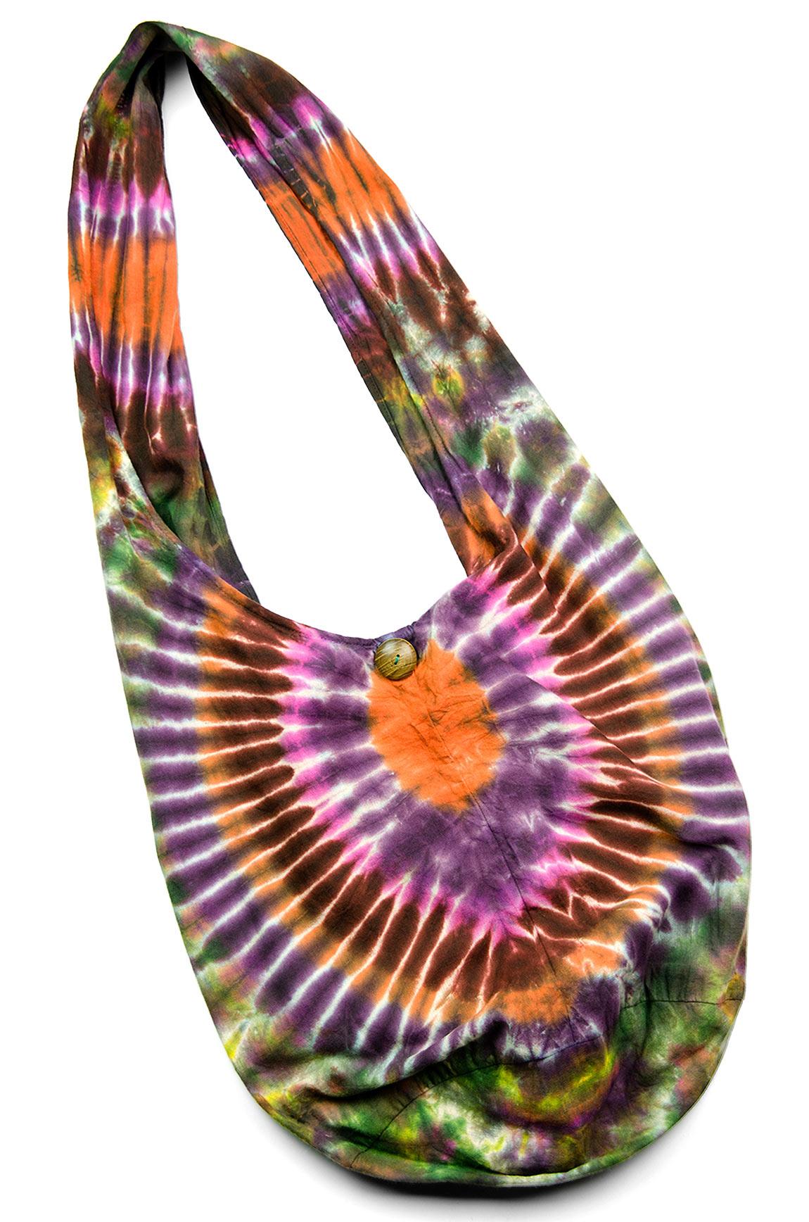 Hand Painted Tie Dye Peddler Bagb Everything-Multi